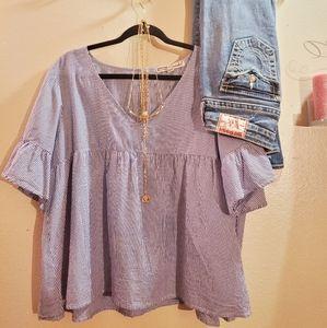 Gypsies & Moondust cropped cotton blouse